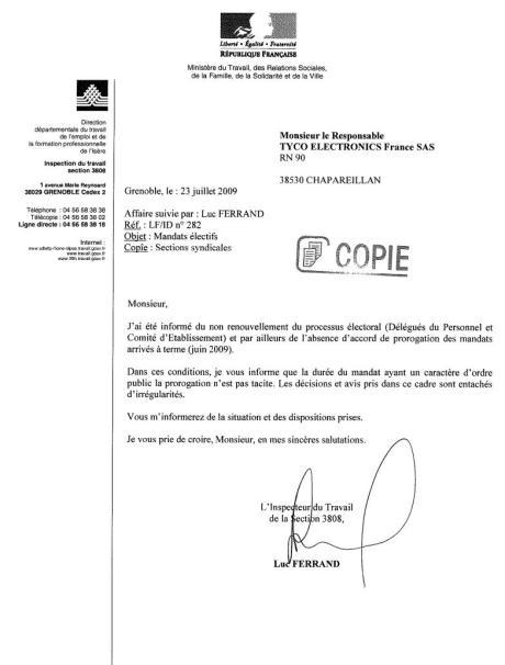 proro mandats inspec w 23 07 09