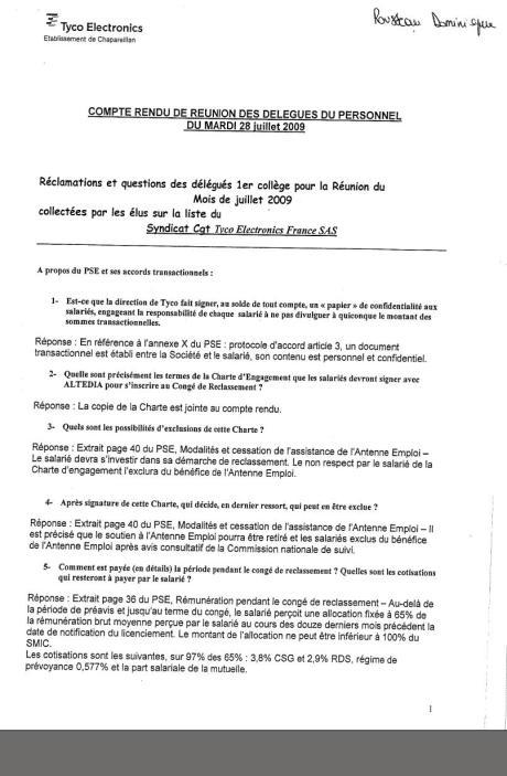 DP Juillet 2009 page 1