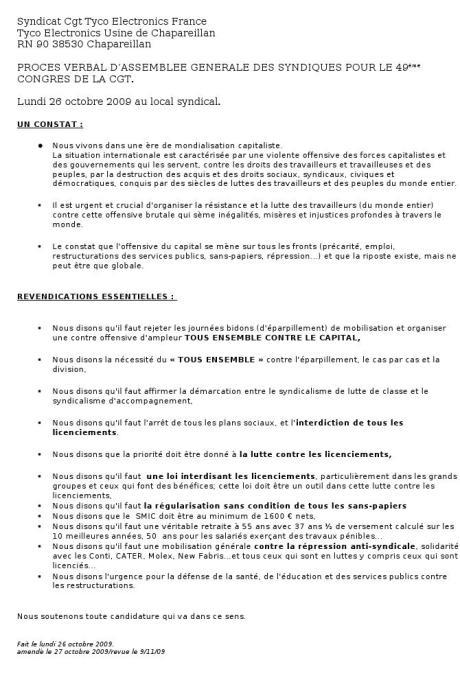 Cgt TEF SAS délibération49èmecongrès