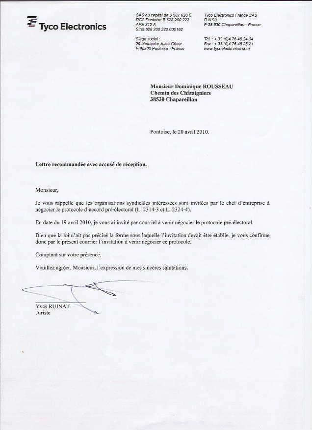 Modele Lettre Licenciement Restructuration