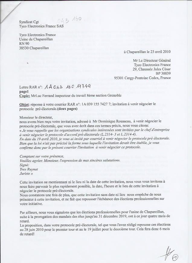 Courrier candidature chsct gratuit for Election chsct