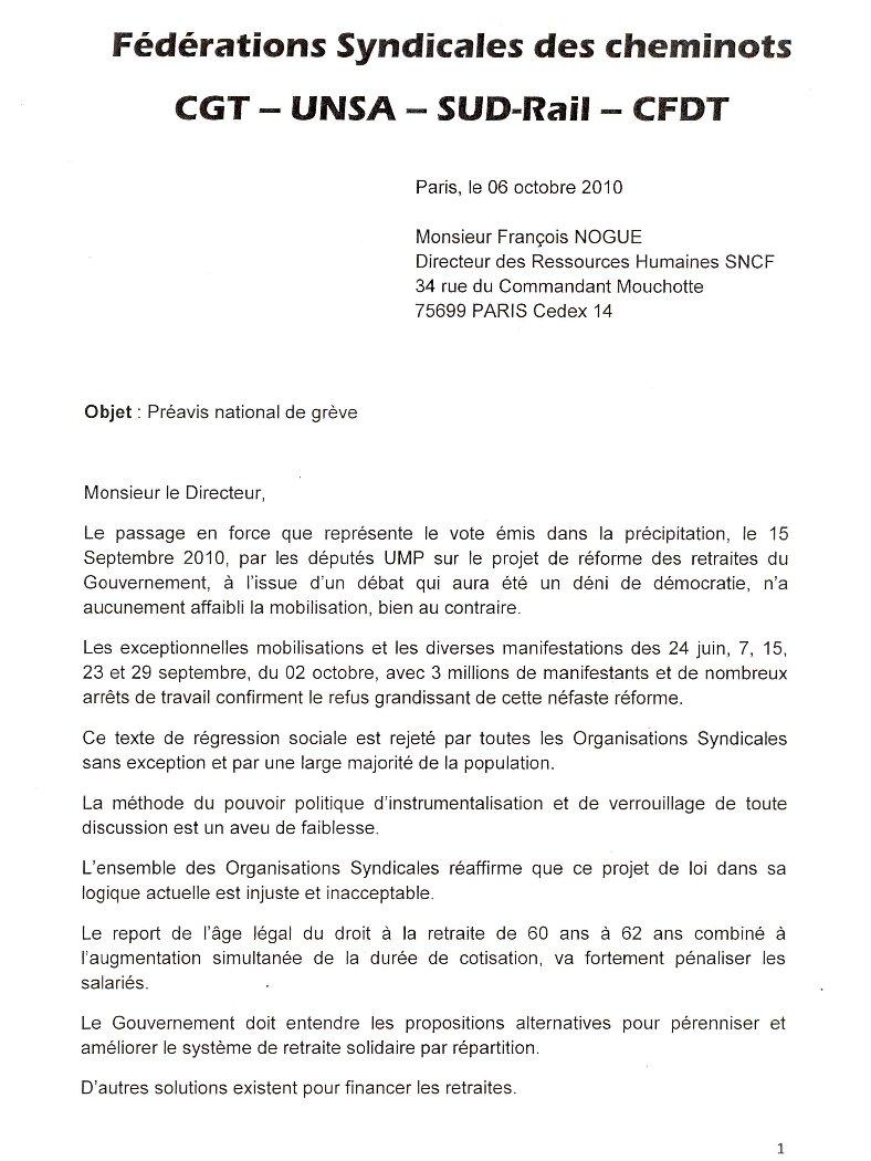 modele lettre preavis 1 mois licenciement document