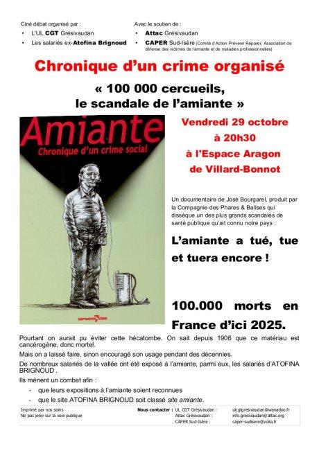 Chronique d'un crime organisé le film: « 100 000 cercueils, le scandale de l'amiante »