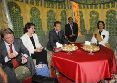 Khadafi Kouchner Sarko