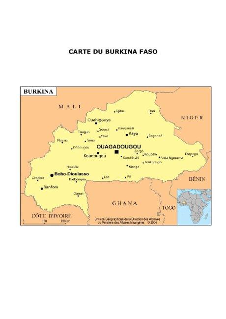 Carte du Burkina-Faso